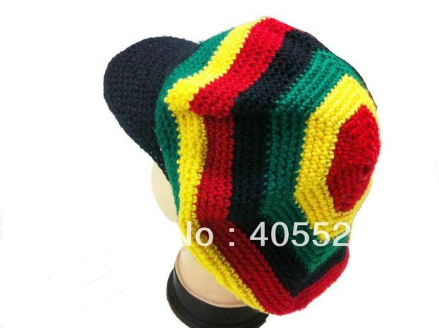 Online Shop Rasta Hat Beanies Knit Hats Beret Crochet Slouchy Tam