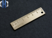 EDC Pure Copper Small Size Ruler Thick Brass Key Ring Tools