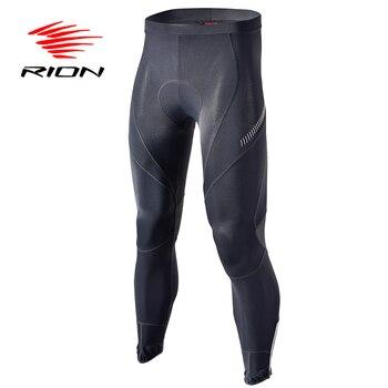 RION-Pantalones acolchados largo para ciclismo, mallas para bicicleta de montaña, de Licra,...
