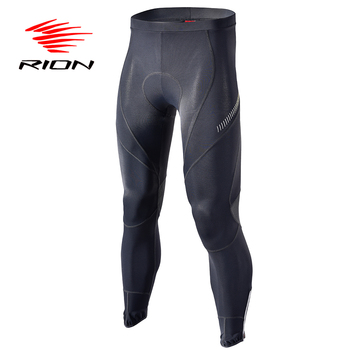 RION Riding MTB Mountain Bike Downhill Autumn Cycling Long Padded Bicycle Tights Pants Full Length Men Hosen Sport Licra Pants