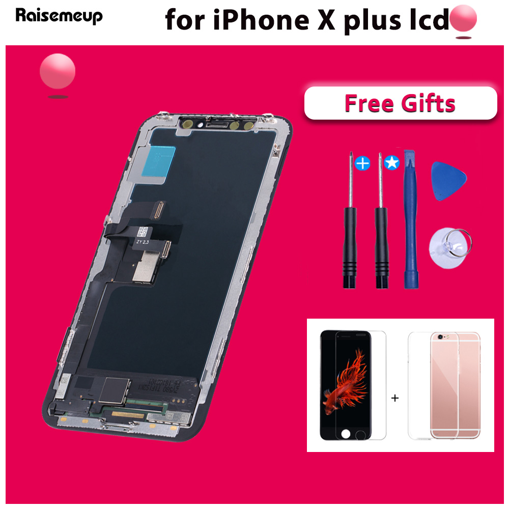 Complete Assembled lcd pantalla for iphone X LCD Digitizer Display Replacement parts with free ship Tool