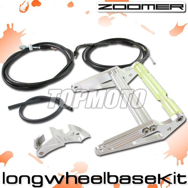 ZOOMER RUCKUS FI NPS50 - Engine Frame Extend Extension Kit + Cables Silver MOTORCYCLE CENTER PARTS подвеска для скейтборда 1шт ruckus trkrk2026 low silver red 4 75 19 1 см