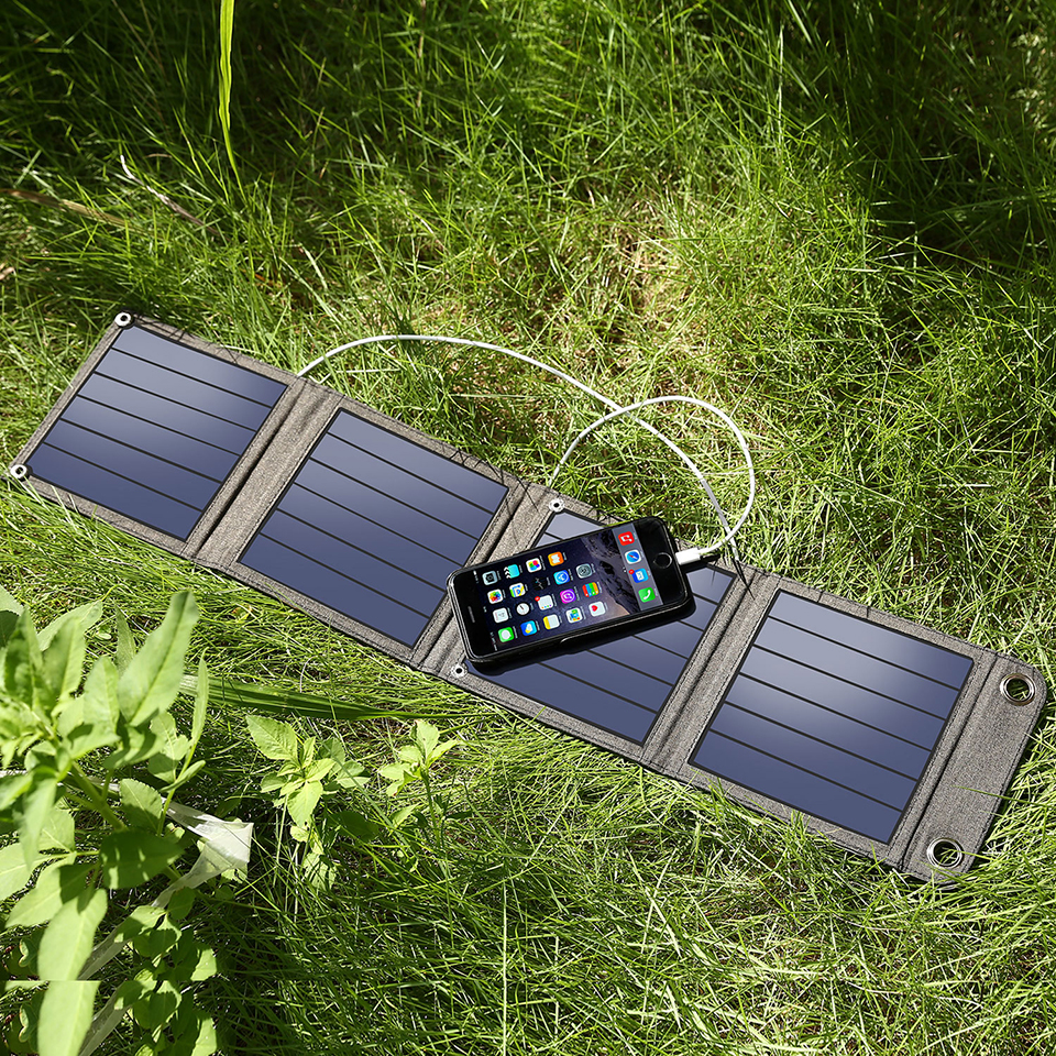 Suaoki 7W/14W/20W/25W/28W Solar Panel Portable Folding Waterproof Sun Energy Charger Power Bank USB for Phone Charger Outdoor