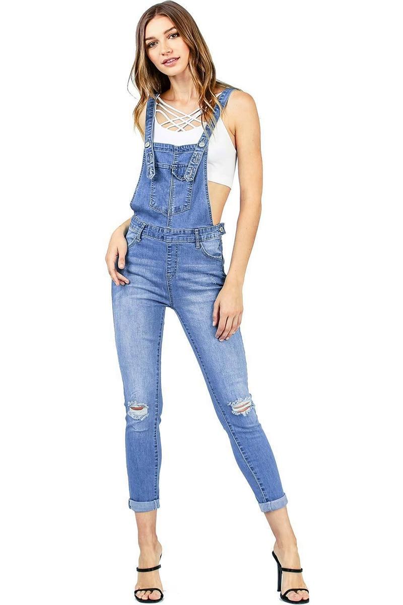 2018 New Arrival Sleeveless Jumpsuit Jeans Sexy Bodysuit Women Denim Overalls Rompers Girls Pants Jeans Ladies (4)