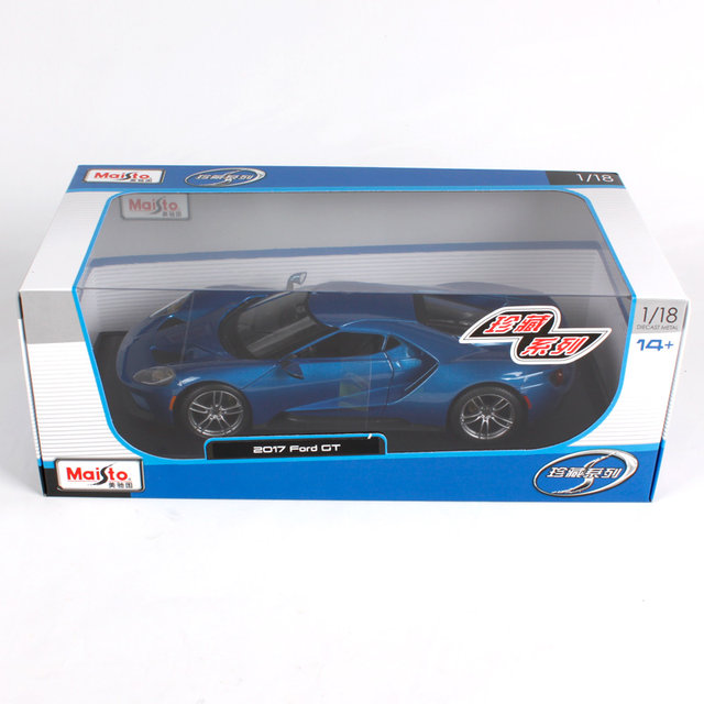 Maisto   Ford Gt Sports Carcast Model Car Toy New In Box Free Shipping  Blue Yellow Silver Three Color Optional