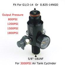 """Nouveau Paintball Air Gun Airsoft PCP 3000PSI HPA régulateur de réservoir vanne de sortie pression 800/1000/1200/1800PSI 5/8 """" 18UNF filetages"""