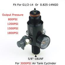 "Pistola de aire para Paintball Airsoft PCP, tanque HPA de 3000PSI, válvula Reguladora presión de salida de 800/1000/1200/1800PSI, 5/8 "" 18UNF, novedad"