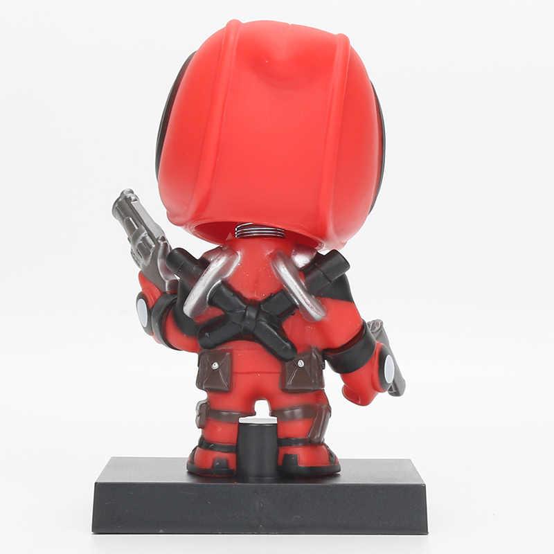 13.5 centímetros Brinquedos Maravilha Deadpool Superhero Wacky Wobbler Bobble Head PVC Action Figure Collectible Modelo Toy Boneca Presentes de Natal