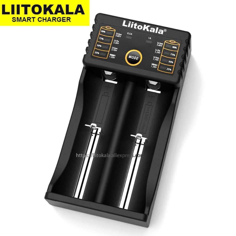Умное устройство для зарядки никель-металлогидридных аккумуляторов от компании Liitokala: Lii-500 18650 батарея Зарядное устройство Lii-402 lii-202 lii-100 lii-S1 18650 Зарядное устройство для 26650 21700 AA AAA батареи