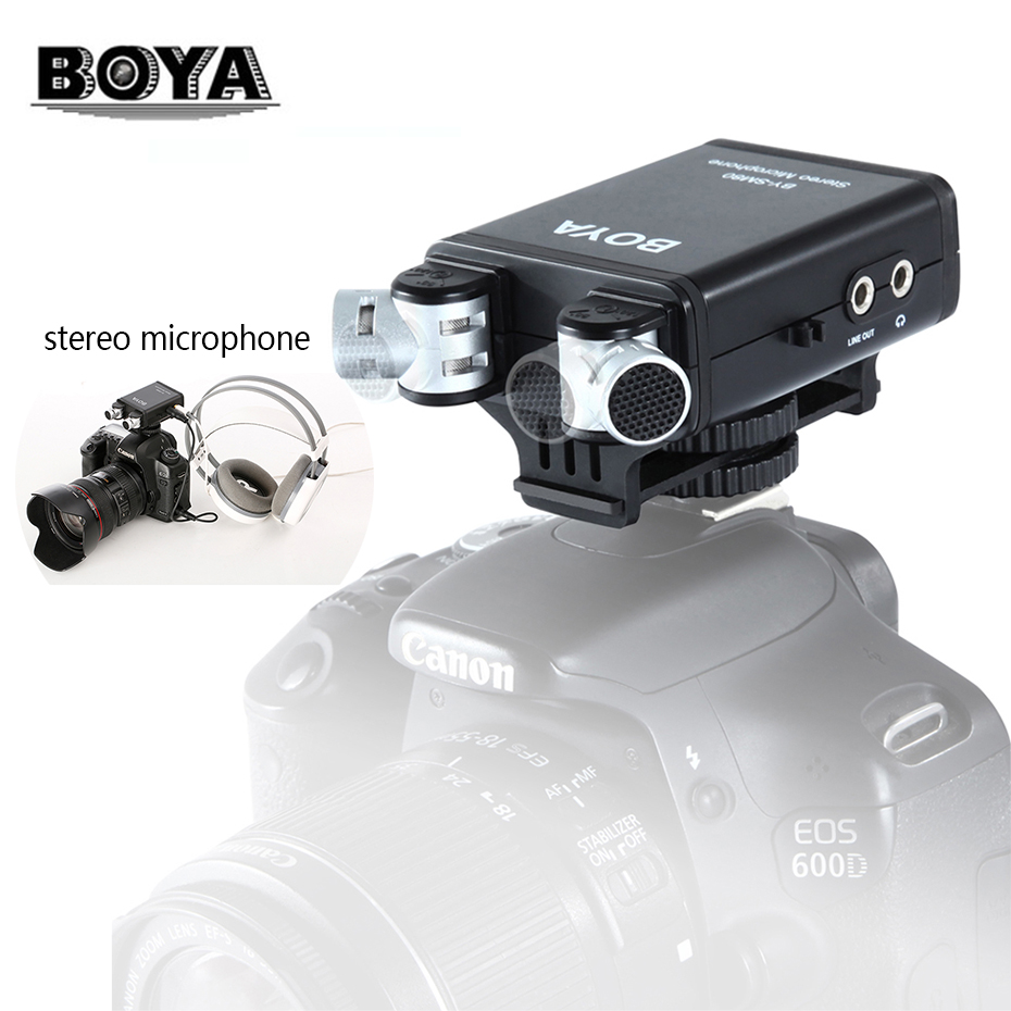 BOYA BY SM80 Stereo Video Microphone X/Y Condenser Mic for Canon Nikon Sony Pentax DSLR Audio Recorder Camera Video Camcorder