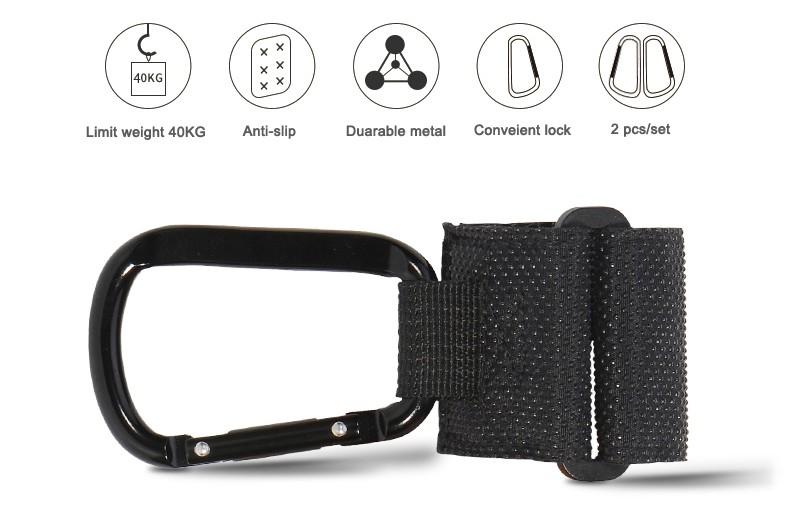 New-Stroller-Hanger-Hooks-Clips-Carabiner-Hook-for-Diaper-Bag-Hangs-on-Pushchair-Stroller-Pram-Buggy-Baby-Accessories-2-pcs-set-04