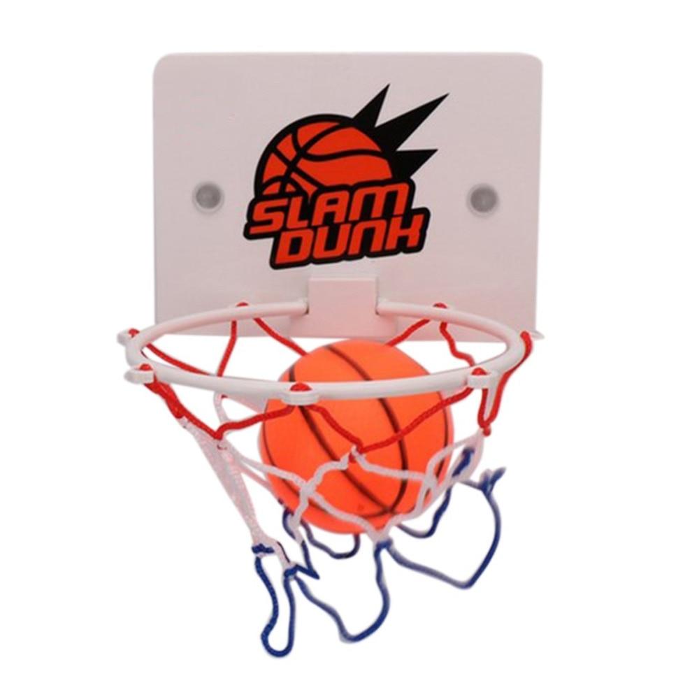 Backboard Sucker Wall-mounted Ball Pump for Junior Basketball Lovers Random Colour Animatey Mini Indoor Children Basketball Set with Basketball Hoop