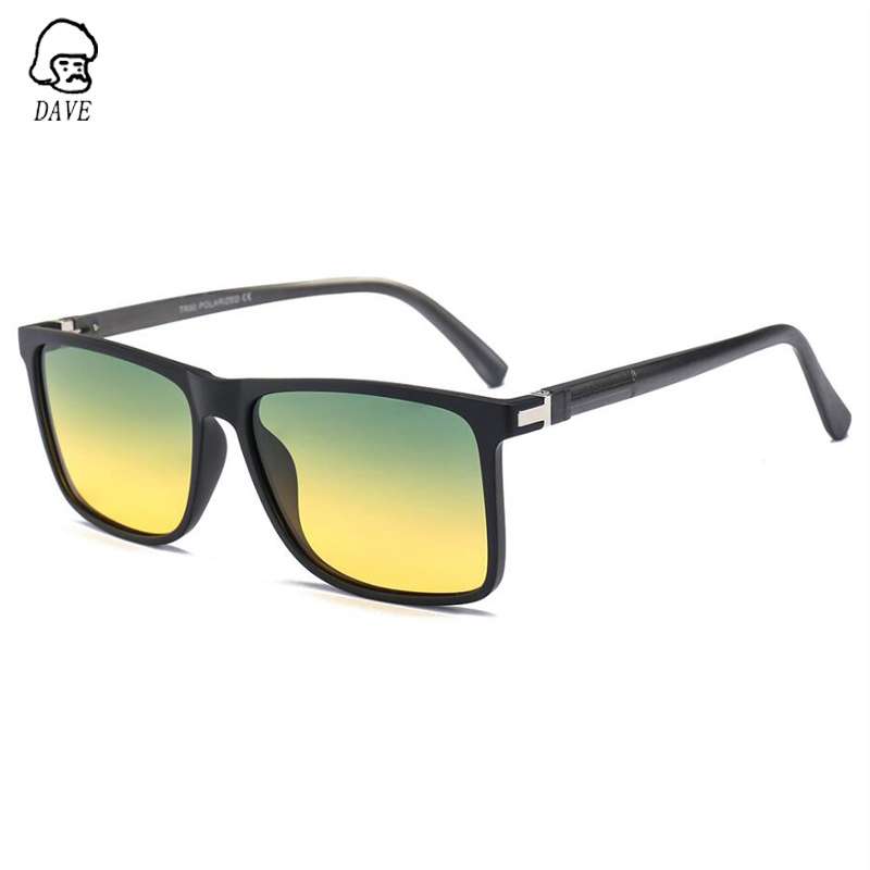 DAVE Day And Night Driving Glasses Polarizing Chromotropic Al-Mg Mirror Leg Sunglasses Night Vision Goggles For Men And Women
