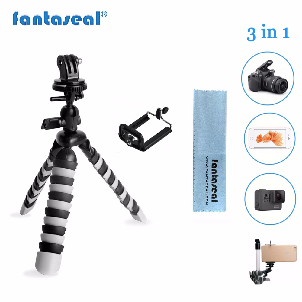 Mini Flexible Gorillapod Camera Octopus Tripod for GoPro Hero 5/4/3+ DSLR iPhone7/6 Samsung Galaxy Note Cell phone SJCAM SJ4000