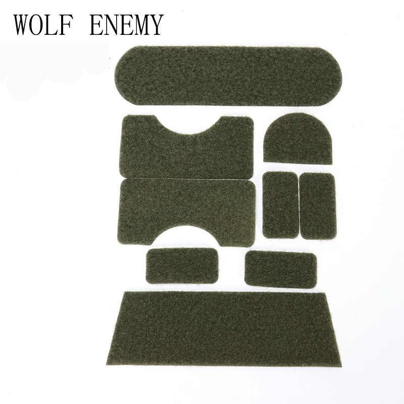 Loup ennemi casque tactique pour Mich casque magique Paster autocollants BK/OD/DE