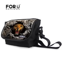 Trend Print Animal Leopard Men's Messenger Bags Single Shoulder Teenager Boys Crossbody Bag High College Student Messenger Bags