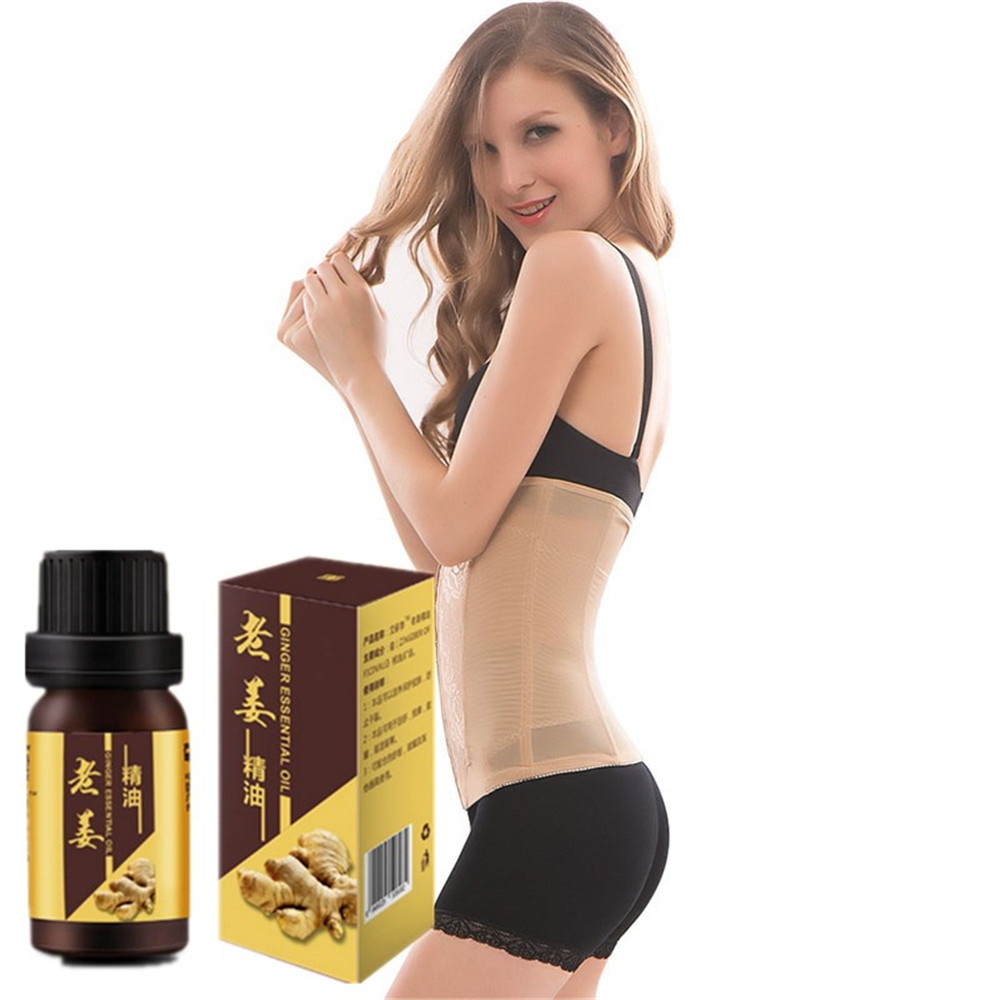 10ml Ginger Weight loss Essential Oil lose weight Detox for Women and men No diet Healthy Slimming Ginger Essential Oil image