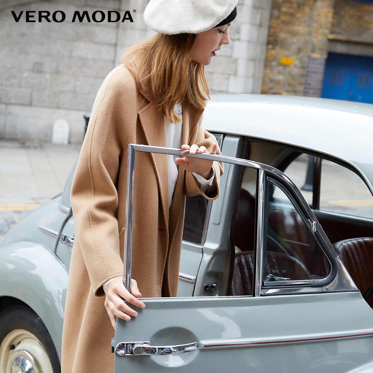 Vero Moda Женская Новинка 100% шерсть двухсторонняя одна застежка шерстяное пальто | 318327505