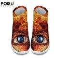 3D big eyes impreso mujeres invierno botas para la nieve gris marrón antideslizantes impermeables del tobillo caliente botas para damas marca de goma botte femme