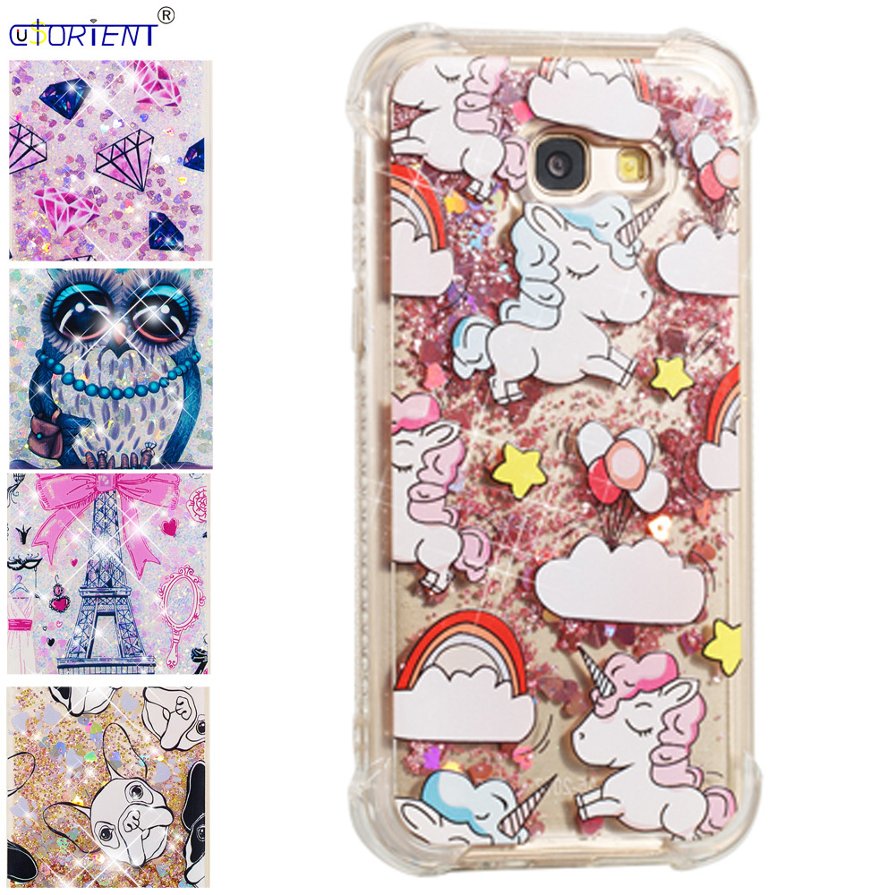 Cellphones & Telecommunications Reasonable Fitted Case For Samsung Galaxy A5 2017 Bling Glitter Liquid Quicksand Silicone Phone Cover Sm-a520f/ds Sm-a520x A520f Back Funda Let Our Commodities Go To The World Half-wrapped Case