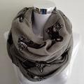 Gato grande Patten infinito bufanda de moda Primavera Foulard mujer gris estampado Animal anillo bufandas de círculo