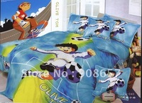 Printed Duvet Quilt Covers 100 Cotton Blue Football Soccer Cartoon Pattern Single Children S Boy S