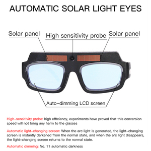 Image 3 - Solar Power Auto Darkening Welding Goggles LCD Protective Lightening Argon Arc Welding Gas Cutting Safety Glasses Eye Protection