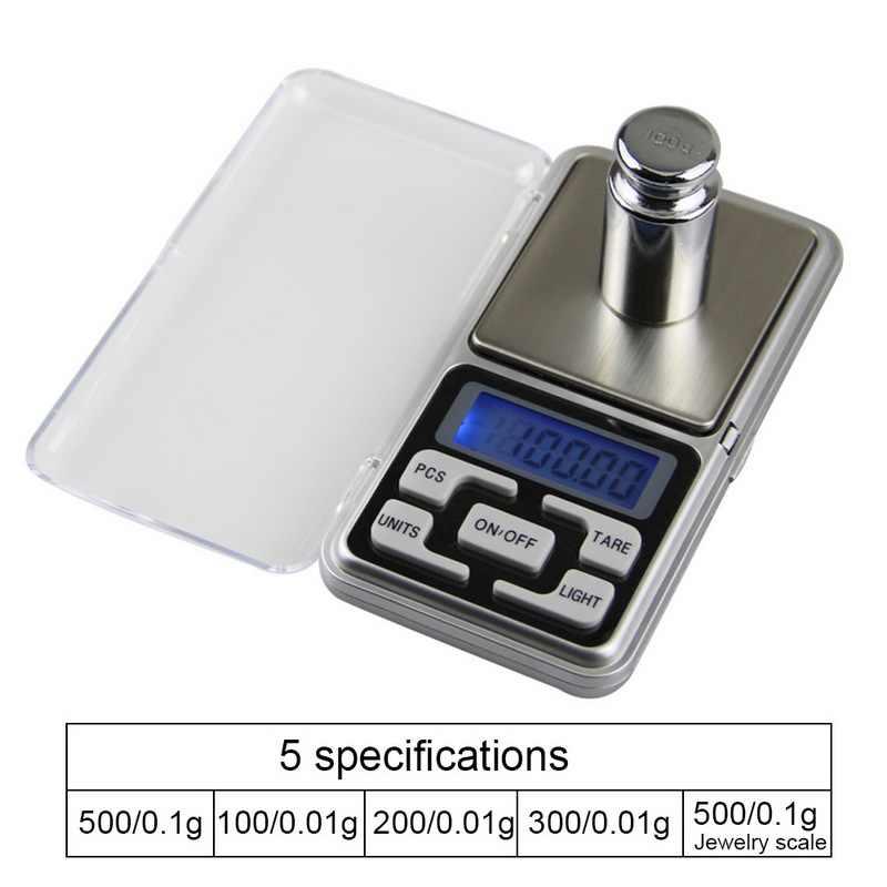 Hoomall Mini libro de alta precisión Balanza de peso de bolsillo de precisión de joyería electrónica Balanza De Peso 500g X 0,01g Mini balanza Digital