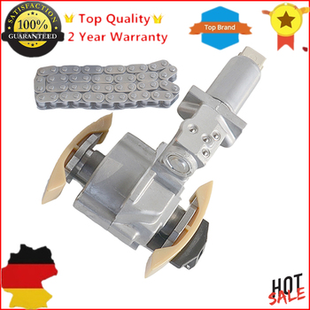 AP01 Left Side Timing Chain Tensioner + 1 Chain for Audi A6 S6 A8 S8 VW Phaeton Touareg 4.2L V8 077109087C E P, 058109229B