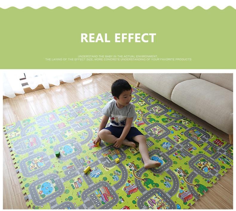 quebra-cabeça bebê tapete crianças 9 pçs 30*30*1cm