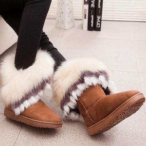 Image 2 - Fox Snow Women Winter Boots Fashion Ladies Ankle Booties Fur Bota Feminino Warm Casual Shoes Fuzzy Female Fether Shoes Cute