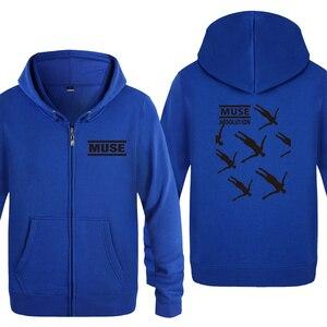 Image 5 - Muse Absolusion Rock Rap Music Sweatshirts Men 2018 Mens Zipper Hooded Fleece Hoodies Cardigans