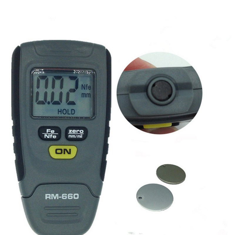 Car Paint Thickness Gauge Coating Thickness Meter Auto Coating Thickness Gauges Thickness of paint sensors RM660 calibration zero plate substrate standard foil set coating thickness gauge meter