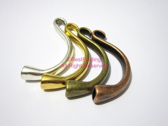 Clasps 5mm Hook clasps Half cuff bracelet clasp Round leather clasps RH01 in Jewelry Findings Components from Jewelry Accessories