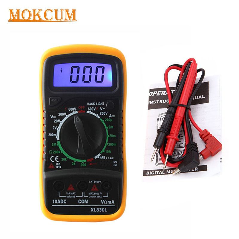 Digital LCD Multimeter XL-830L Voltmeter Ammeter AC//DC//OHM Volt Current Tester