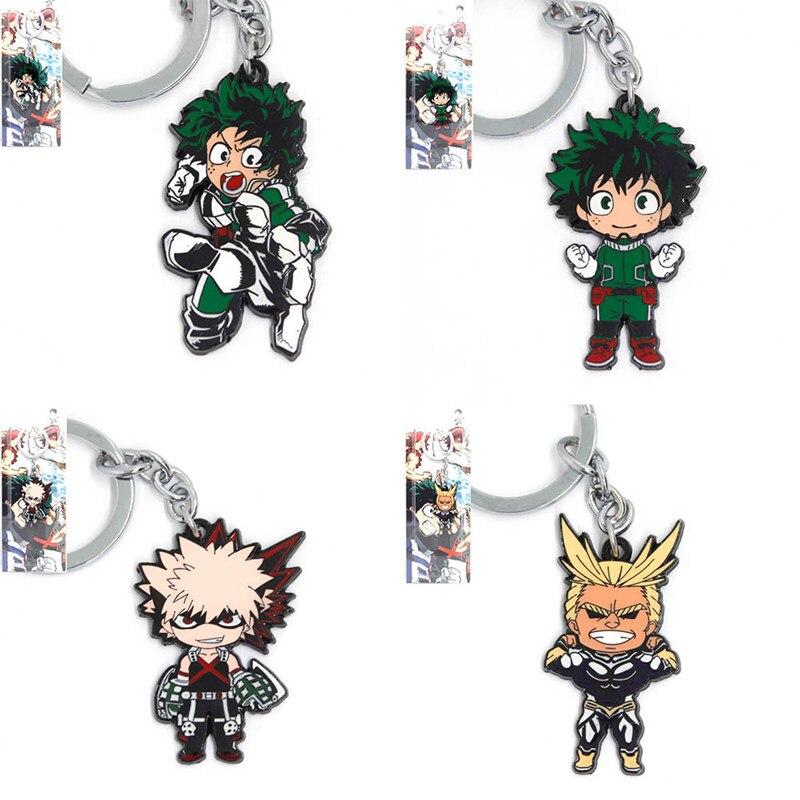 new 100 pcs lot Piece My Hero Academia keychain pendant dolls Boku no Hiro alloy Gift