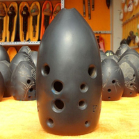 10 hole Chinese Ancient Xun Flute Black Pottery Dual chamber Professional Clay Flauta Musical Instrument G/F key Ceramic Ocarina