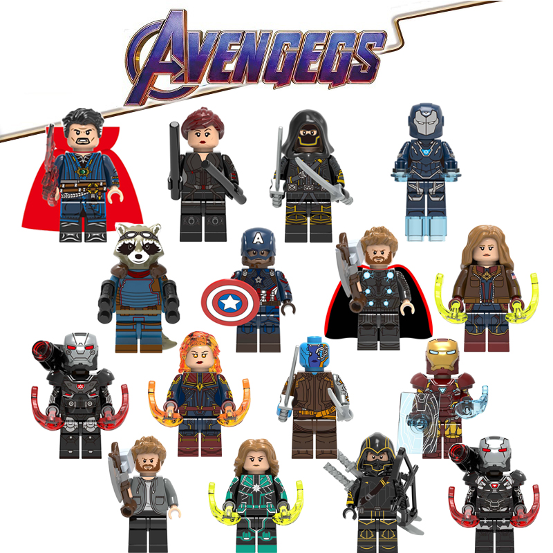 Avengers 4 Endgame LegoING Marvel Super héros Iron Man Thor Playmobil blocs de construction figurines d'action enfants cadeau jouets CK016