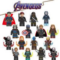 Avengers 4 końcówki LegoING Marvel Super Heroes Iron Man Thor Playmobil klocki Action Figures dzieci zabawki prezentowe CK016
