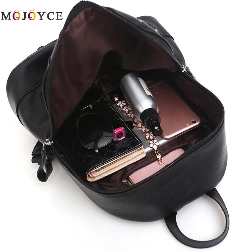 Women Backpacks Hot Sale Fashion Causal Bags High Quality Bead Female Shoulder Bag Pu Leather Backpacks For Girls #6