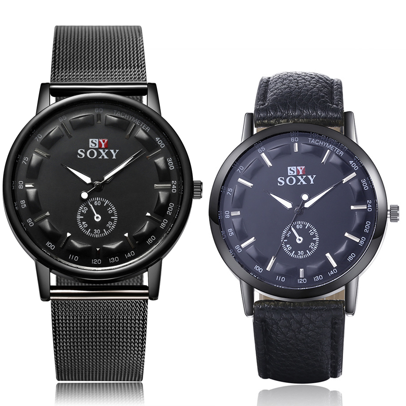 A Pair Watches Set SOXY Men Wrist Watch Simple Style Mens Quartz Watches Fashion Simple Designer Male Clock Montre Homme 2 PCSA Pair Watches Set SOXY Men Wrist Watch Simple Style Mens Quartz Watches Fashion Simple Designer Male Clock Montre Homme 2 PCS