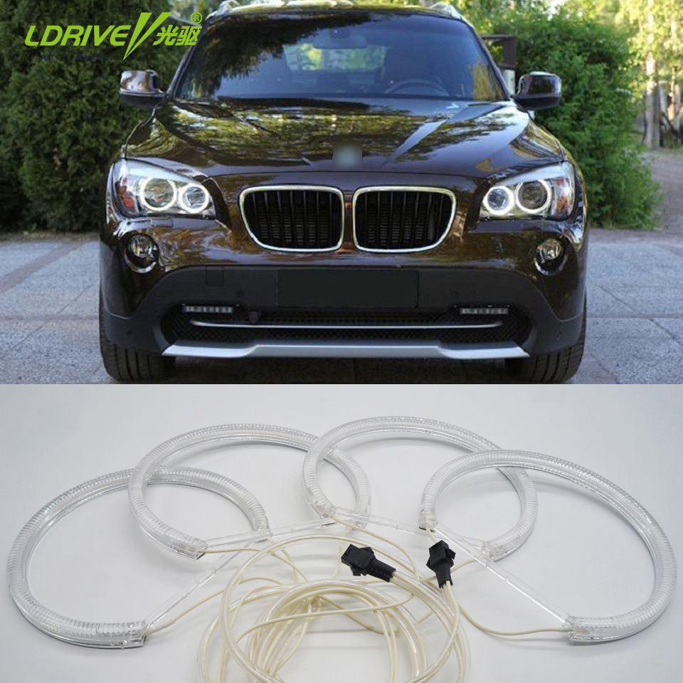 Highlight Bright 4x131mm CCFL12V LED Car White Angel Angel Eyes - Dritat e makinave - Foto 1