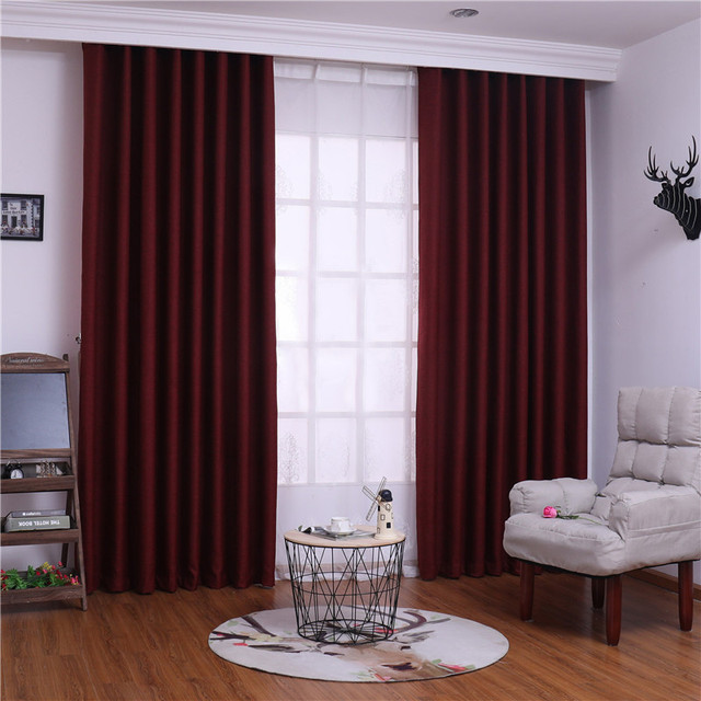 US $9.99 50% OFF|XYZLS New Luxury Solid Cortina Blinds Blackout Curtains  Tulle Curtain for Living Room Bedroom Window Shade Panel Drape 8 Colors-in  ...