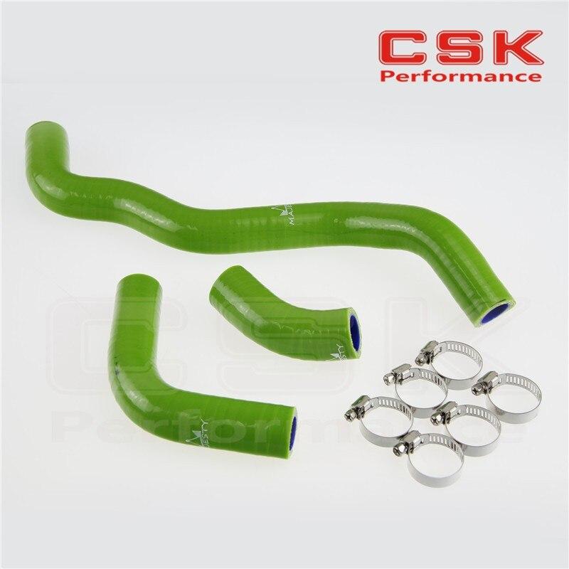 Силиконовый радиатор хладагент шланг+ зажимы для SUZUKI DRZ400S/DRZ400SM Drz400SL 2002-2011 зеленый