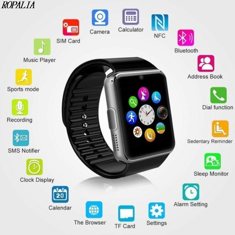 Health-Monitoring Watch Smart-Watch-Card Sports-Wristband Bluetooth GT08 Multi-Language
