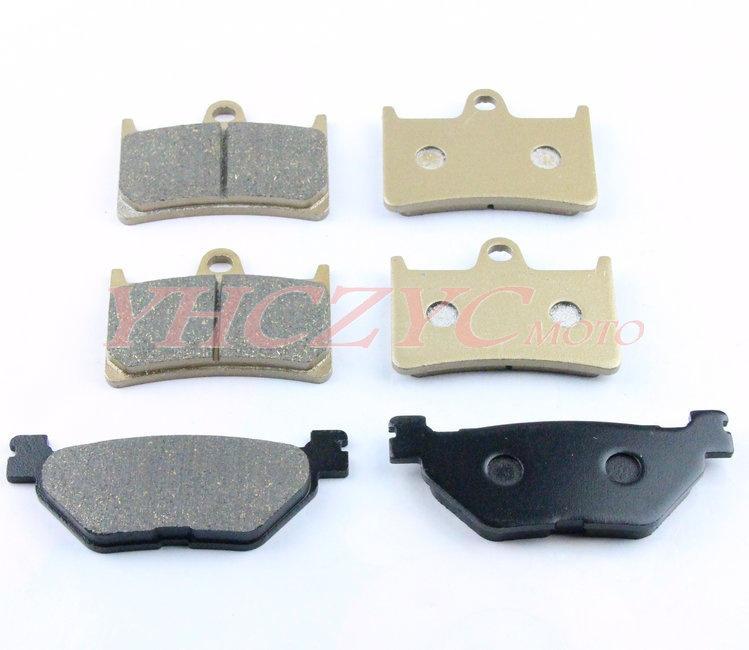 For YAMAHA XVS1300 2007-2009 motorcycle front and rear brake pads set motorcycle front and rear brake pads for yamaha xvs 1300 xvs1300 aw ax v star 2007 2009 black brake disc pad