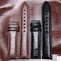 Correas de reloj correas de Reloj de Cuero Negro Marrón hebilla libre de encargo 12mm 14mm 16mm 18mm 20mm 22mm lagarto cuero de moda a prueba de agua
