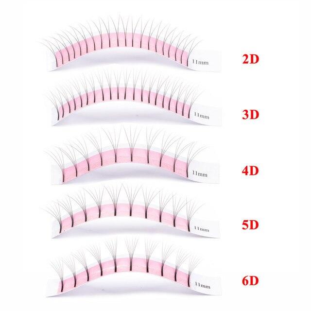 GLAMLASH 2D 3D 4D 5D 6D Long Stem False Lashes Premade Russian Volume Fans Faux Mink Premade Eyelash Extensions Makeup Cilios 3