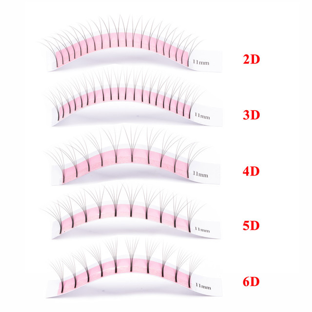 GLAMLASH 2 Cases Wholesale 2D-6D Long Stem Lash Premade Russian Volume Fans Mink Eyelashes Premade Eyelash Extensions Makeup 1