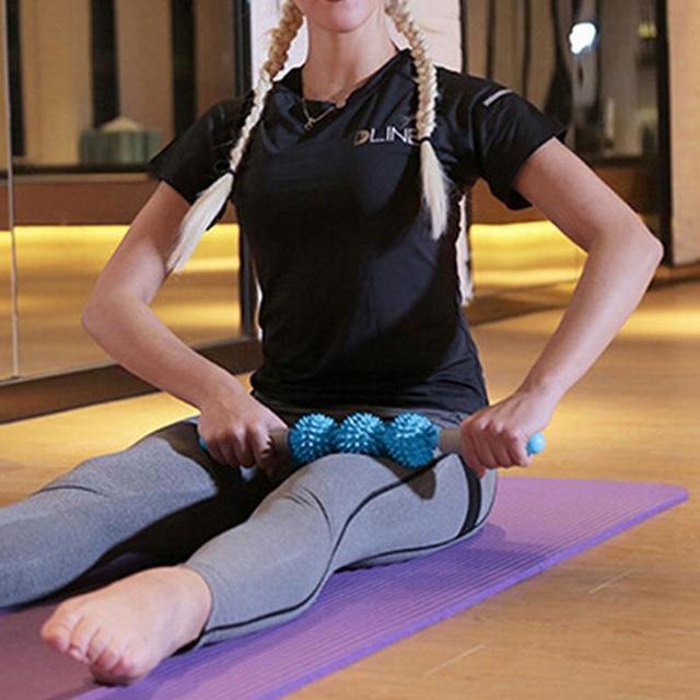 NEW Massager Stick Hedgehog Balls Muscle Roller Anti Cellulite Massager Trigger Point Stick Cellulite Slimming Massage Stick 2